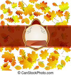 floral background - vector illustartion of a lable on a...