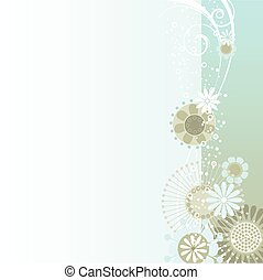 Floral background in blue