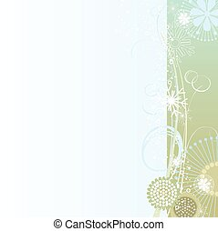 Floral background in gray-blue
