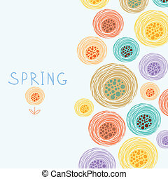 floral background in vector