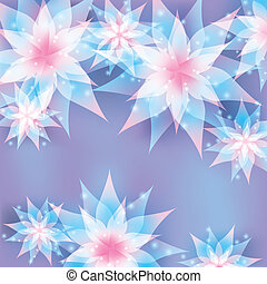 Floral background. Invitation or greeting card