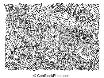 Floral background july 2017 - Abstract floral lineart for...