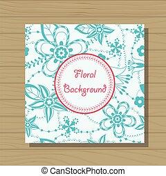 Floral background on wooden background