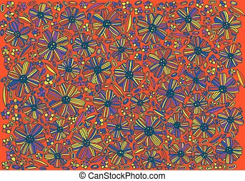 Floral background pattern - coloring page with Mortonia utahensi
