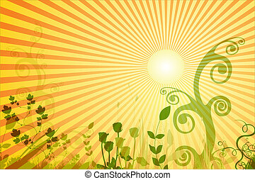 Floral Background - Floral Summer Background