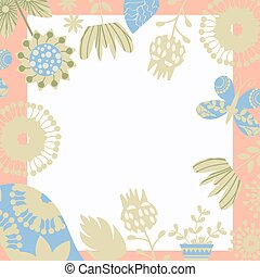 Floral background vector card design