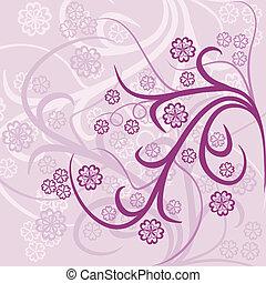 Floral background, vector - Floral background, illustration