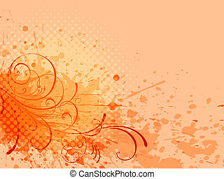 floral background, vector