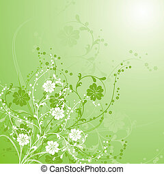 Floral background, vector - Floral background,  illustration