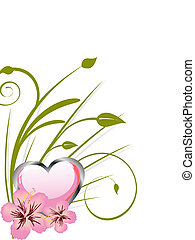 floral background - vector illustration of beautiful flowers...