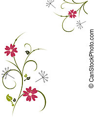 vector illustration of?floral elements