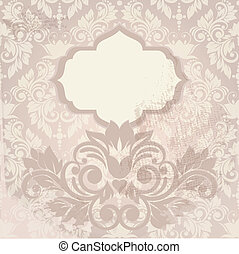 Floral background. Wedding card or invitation with abstract flor
