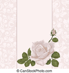 Floral background. Wedding card or invitation