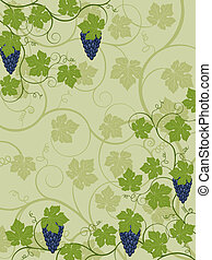 Floral background with a vine