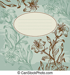 Floral background with banner