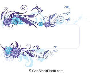 Floral background with blue flowers