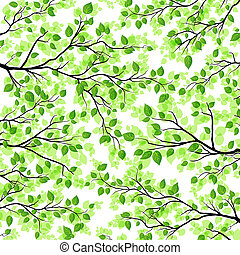 Floral background with branches and - Vector floral...