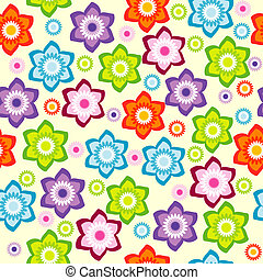 Floral background with colored flowers