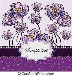 Floral background with crocuses