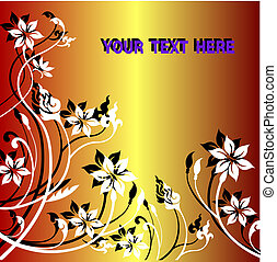 floral background with flowers  vector in eps10