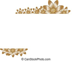 Floral background with golden flower