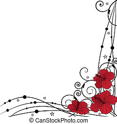 floral background with hibiscus