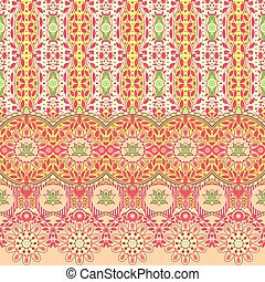 Floral background with lace border