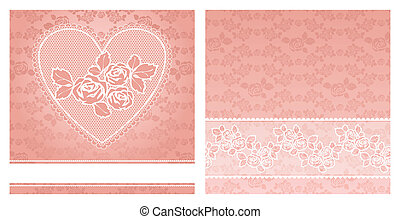 floral background, with lace for gr
