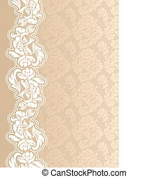 Floral background with lace for gre