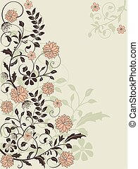 Floral background with place for your text