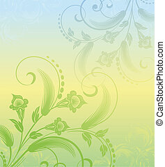 floral background with plants