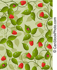Floral background with raspberry