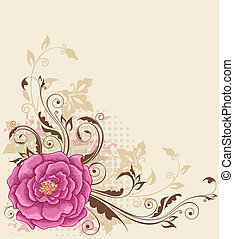 floral background with rose