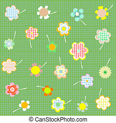 floral background with set flowers