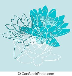 Floral background with water lily