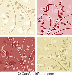 Floral backgrounds - Abstract floral backgrounds - use as...