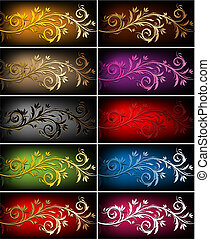 Floral backgrounds - Vector decorative colorful design...