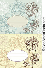 Floral backgrounds with banner