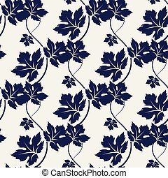 Floral ball pen color seamless pattern - Floral seamless...