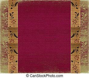 Floral Bamboo Banner Frame