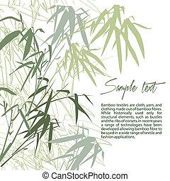 floral, bamboo., plano de fondo