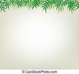 floral, bambu, fundo