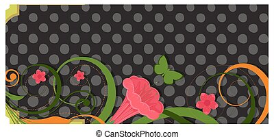 Abstract Decorative Colorful Flourish Elements Halftone Texture Vector Background