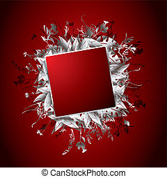 floral banner red