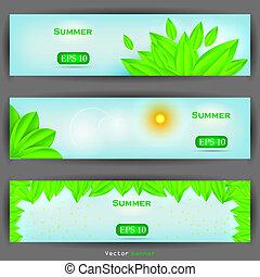 floral banner set. Vector illustration