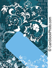 Floral banner with b