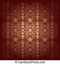 Floral baroque background vector