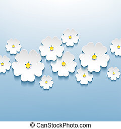 Floral beautiful abstract background with 3d flower sakura