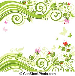 Floral beautiful background