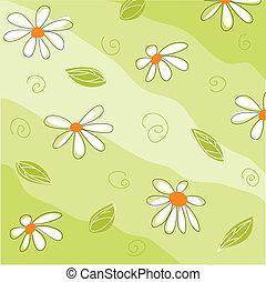 floral, begroetende kaart